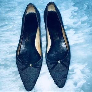 Salvatore Ferragamo Blue Jeans Shoes Size 11 B